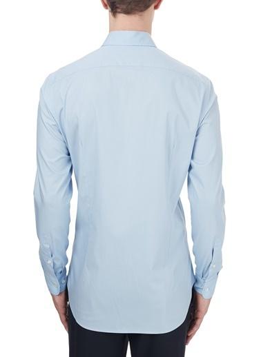 Etro  Pamuklu Düğmeli Yaka Slim Fit Gömlek Erkek Gömlek 1K964 3400 0250 Mavi